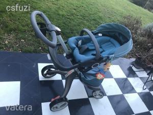Stokke Xplory V3 újszülött babakocsi TELJES SZETT Mózes, bébi ülőke, autós ülés stb - ÁRZUHANÁS !!!