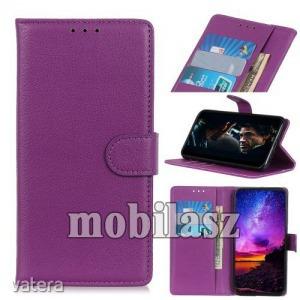 Vodafone Smart V10, Notesz tok, Oldalra nyíló, Asztali tartó funkció, Mágneses záródás, Lila