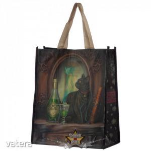Black cats - Macska és abszint - Lisa Parker. táska, bevásárló táska