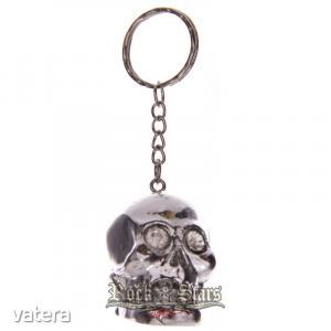 Silver Skull koponya kulcstartó