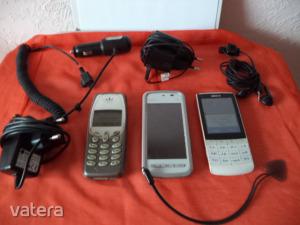 Telefon, Mobiltelefon / 3db régebbi működőképes telefon 1,-Ft-ért elvihető !!!!! / Aksik gyengék /