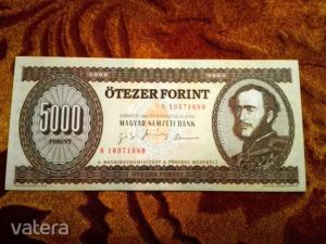 1995 -ös Ropogós 5000 forint -os Bankó