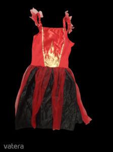 7-10 piros-fekete tüllös jelmez ruha - Halloween jelmez