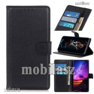 LG K41S, K51S, WALLET notesz mobiltok, Fekete