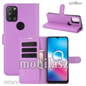 ALCATEL 3X (2020) (5061U), WALLET notesz mobiltok, Lila