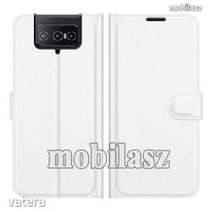 ASUS Zenfone 8 Flip (ZS672KS), WALLET notesz mobiltok, Fehér