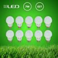 10 db 7W-os energiatakarékos Eco LED izzó E27 foglalattal