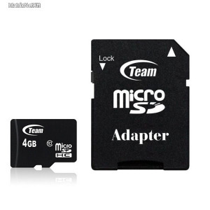 TeamGroup 4GB microSDHC Class 10 + adapter