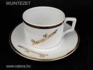 Zsolnay porcelán reklám csésze - Boons Cacao, 1930-as évek / 1