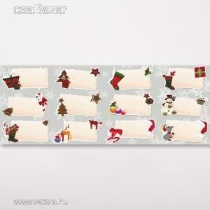 Karácsonyi ajándék címke 12db-os