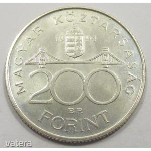Magyarország, 200 forint 1994 aUNC+, 12g500