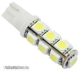 LEDes T10 Izzó 13 SMD LED ( 5050 ) Autó Lámpa 12V