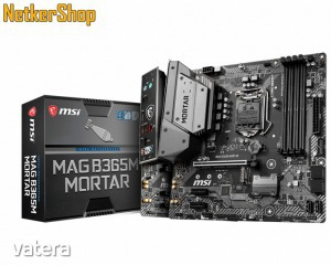 MSI MAG B365M MORTAR LGA1151 4xDDR4 2666MHz 64GB 1xPCIEx16 2xPCIEx1 Alaplap (3 év garancia)