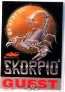 SKORPIÓ. GUEST. BS.93.04.24. Stage pass. - 2500 Ft Kép