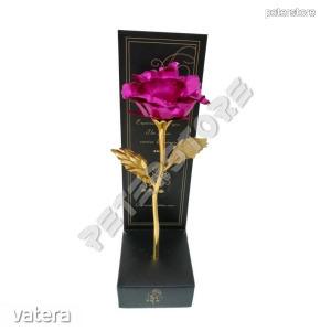 Fémrózsa dobozban - Sötét rózsaszín
