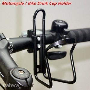Univerzális MOTOR QUAD motorkerékpár kerékpár kulacstartó palacktartó tartó bicaj bukócső kormány ÚJ