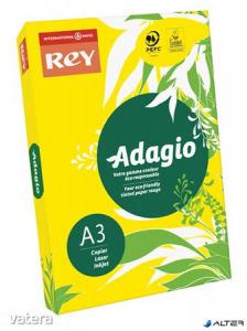 Másolópapír, színes, A3, 80 g, REY 'Adagio', intenzív sárga
