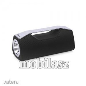 Hordozható Bluetooth hangszóró, elem lámpa - Bluetooth V5.0, beépített mikrofon, 3,5mm AUX, USB p...
