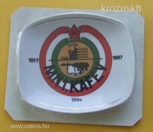 Magyar Néphadsereg MN 1. KAFÉV  porcelán tálca   Hollóházi  18031004