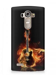 gitár mintás LG K8 tok hátlap