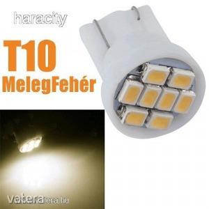 LEDes T10 Izzó 8 SMD LED ( 3020 ) MelegFehér