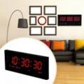 LED kijelzős digitális óra idő, dátum és hőmérséklet kijelzéssel