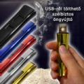 USB-ről tölthető szélbiztos öngyújtó többféle színben