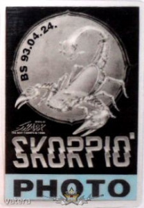 SKORPIÓ. CREW. PHOTO. BS.93.04.24. Stage pass.