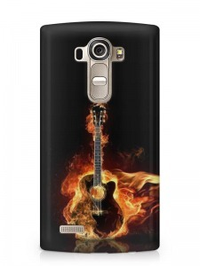 gitár mintás LG G3 tok hátlap