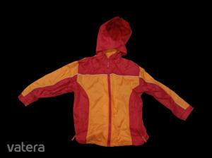 128-as piros-narancssárga széldzseki, átmeneti kabát - Kids Fashion