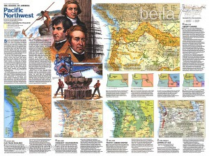 Eredeti térképmelléklet - National Geographic Magazine 1986. Making of America Pacific Northwest