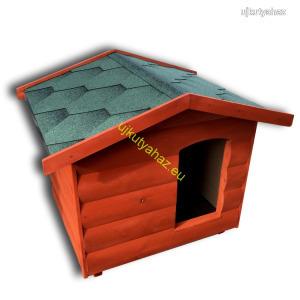 Fűthető 80x100-as rönkhatású kutyaház