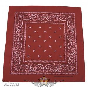 Kendő - Bandana. klasszik design, burgundy-black. vászon kendő