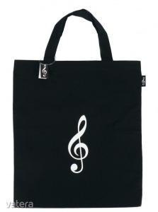 Violinkulcsos táska, fekete