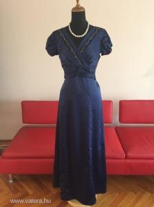 4c727584b4 Oasis minőségi angol elegáns kék selyem hosszú ruha estélyi ruha / koktél  ruha strasszal 38 /. 12
