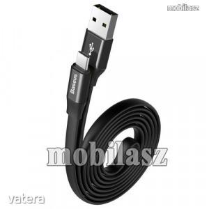 BASEUS adatátviteli kábel / USB töltő - USB 3.1 Type C, 1,2m, 2A - FEKETE - GYÁRI