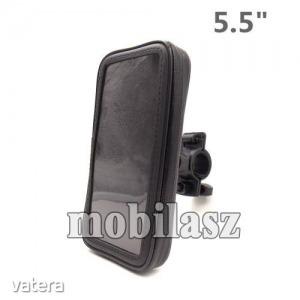 """UNIVERZÁLIS biciklis / kerékpáros tartó konzol mobiltelefon készülékekhez - 5.5"""" méretig / 1..."""