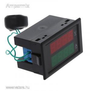 Digitális AC  V/A mérő LED kijelző 80...300V/100A LED kijelzővel