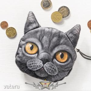 3D Cat coin bag model 4. 3d hatás. pénztárca, apró pénz tartó