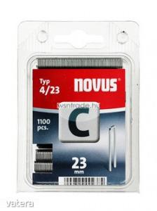 Novus tűzőkapcsok, keskeny C 4 23 mm 2000 db - Vatera.hu Kép