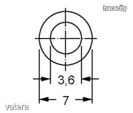 Távtartó Henger Műanyag fekete D:7mm, hossz:35mm