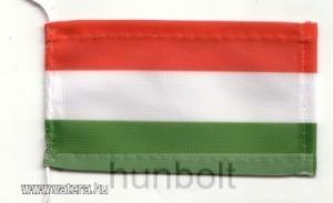 Magyar nemzeti színű zászló antennára, biciklire, 10x6 cm
