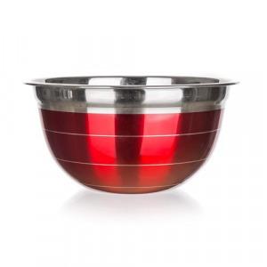 Banquet 15853824R  Rozsdamentes keverőtál piros 23cm Avanza