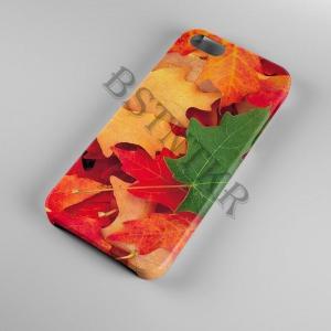 színes levél mintás Samsung Galaxy A50 tok hátlap tartó