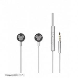 Disney sztereo headset - Mickey 3,5mm jack ezüst