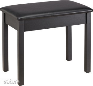 Soundsation - SBH-50P-SBK fa zongorapad műbőr ülőfelülettel fekete
