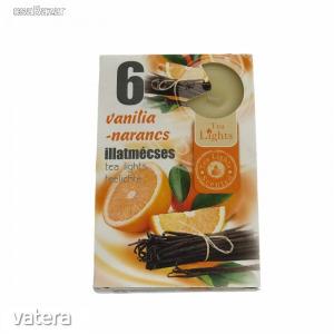 Illatmécses, teamécses vanília-narancs illatban 6 db-os