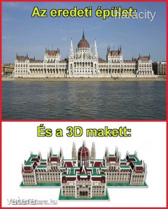 Cubicfun 3D Puzzle - A Magyar Parlament (61db-os)