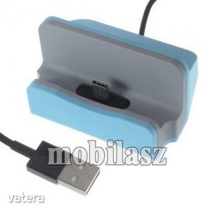 Asztali töltő / dokkoló - adatátviteli állvány, USB 3.1 Type C, 1m-es kábellel - VILÁGOSKÉK