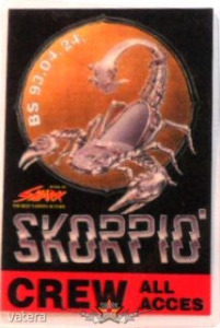 SKORPIÓ. CREW. ALL ACCES. BS.93.04.24. Stage pass. - 2500 Ft Kép